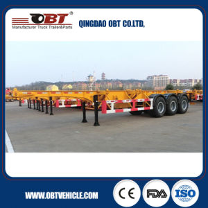 Tri-Axles Skeletal Container Truck Semi Trailer with Air Suspension pictures & photos