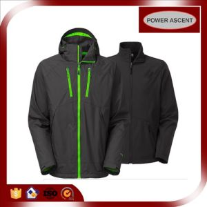 OEM 3-in-1 Wind-Proof Softshell Functional Jacket for Men pictures & photos