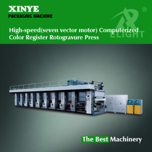 High -Speed (seven vector motor) Computerized Color Register Rotogravure Press pictures & photos