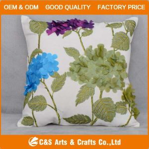 Custom New Design Embroidery Fabric Cushion for Home Textile pictures & photos
