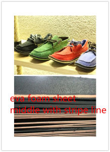 Eeva Foam Soling Sheet Middle with Stripes Shoe Sole Material pictures & photos