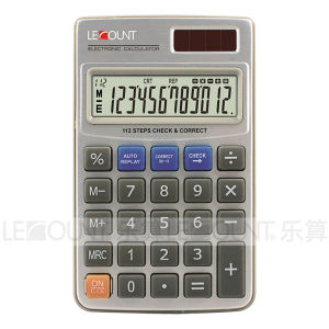 12 Digits Dual Power Pocket Calculator with High Quality Wallet (CA3060)