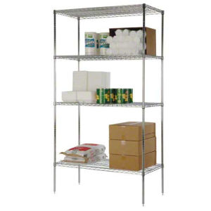Metal Chrome Restaurant Kitchen Wire Storage Shelving with NSF Aprpoval pictures & photos