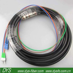 Breakout Optical Fiber Patch Cord, 2 Core for Data Communications pictures & photos