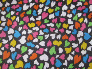 Oxford 600d Hearts Printing Polyester Fabric (DS1190) pictures & photos