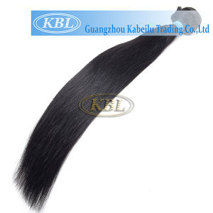 Full Cuticle Brazilian Jet Black Human Hair pictures & photos