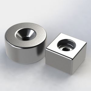 High Performance Sintered Permanent NdFeB Countersunk Magnet pictures & photos