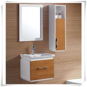Solid Wood Vanity Unit with Mirror (New design) pictures & photos