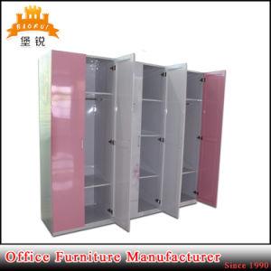 Hot Sale Metal Almirah Steel Bedroom Wardrobe with 6 Doors pictures & photos