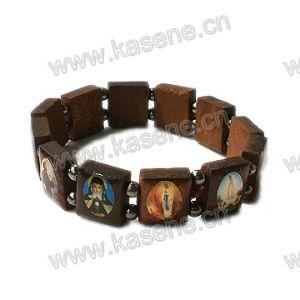 Hot Sale Wooden Saints Holy Rosary Bracelet pictures & photos