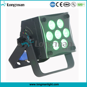 High Power CE 7*12W Rgbaw DMX LED Flat PAR Uplight for Stage pictures & photos