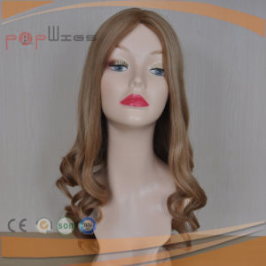 Loose Wavy Long Human Remy Hair Silk Top Women Wig pictures & photos