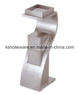 Stainess Steel Floor Ashtray Stand for Hotel Lobby pictures & photos