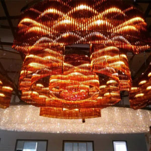 Hotel Lobby Decorative Champaign Gold Round Crystal Chandelier pictures & photos