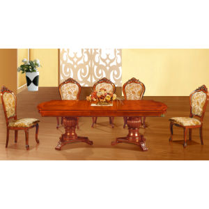 Wood Dining Table with Dining Chair for Home Furniture (H808) pictures & photos