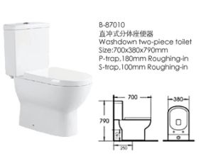 Bathroom Two-Piece Ceramic Toilet (87010) pictures & photos