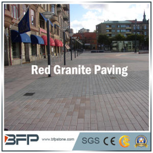 Garden Red Granite Paving Stone with Flamed/Honed Finishes for Floor/Flooring pictures & photos