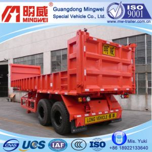 11 Cbm/9m/CCC/ISO/2 Axles Box-Type-Low-Wall Tipper Semi Trailer
