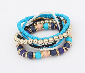 Jewellry Wholesale Fashion Multi Layer Stretch Beads Charm Bracelet Jewelry pictures & photos