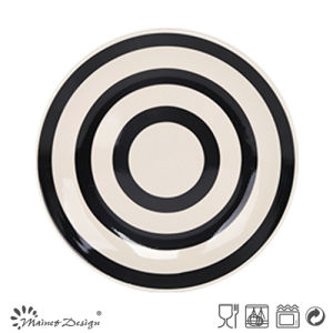 2016 New Item 16PCS Black & White Strip Dinner Set pictures & photos