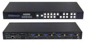 AV HDMI VGA 4 X4 Mixed Inputs Seamless Matrix Switcher pictures & photos