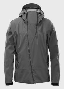 Men′ S Grey Casual Windproof & Breathable Softshell Jacket with Hood pictures & photos