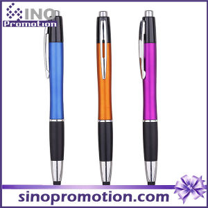 Rubber Grip Click Ballpoint Pen with Rubber Tip Ball Pen