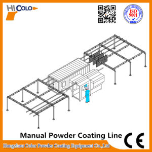 Manual Conveyor System Powder Coating Plant for Small Production pictures & photos
