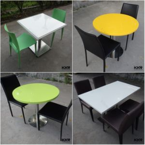 Solid Surface Table Furniture Restaurant Dining Table and Chairs pictures & photos