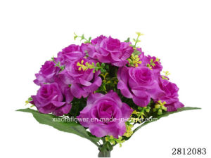 Artificial/Plastic/Silk Flower Rose Bush (2812083-13) pictures & photos