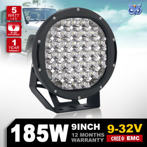 New Arrival 12V 9inch 185W Round CREE LED Driving Light for Offroad