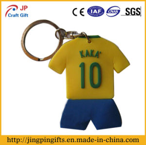 Sport Clothes PVC Key Chain with Key Ring pictures & photos