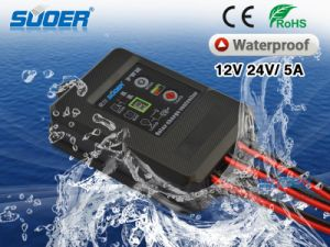 Suoer New Solar Charge Controller 12V 5A Digital Solar Controller Waterproof with IP67 Grade (ST-F1205) pictures & photos
