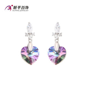 E-128 Xuping Heart-Shaped CZ Crystals From Swarovski Elegant Eardrop pictures & photos
