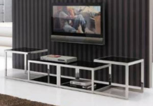 TV Stand / Living Room Furniture / Stainless Steel Table / Home Furniture / Modern Table / Glass Table / Tempered Glass Table Dg016 pictures & photos