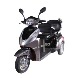 Double Saddles Disabled 3 Wheel Electric Mobility Scooter (TC-022B) pictures & photos