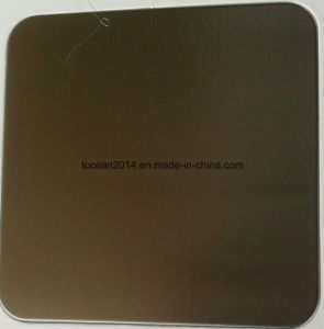 TP304 Brushed Brown Titanium Stainless Steel Sheet for Decoration