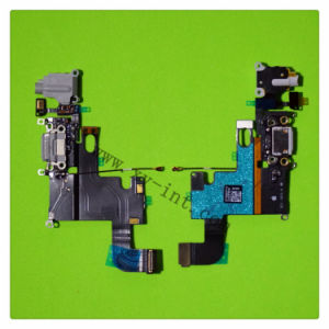 USB Charging Dock Port Microphone Headphone Flex Cable for iPhone 6 Plus pictures & photos