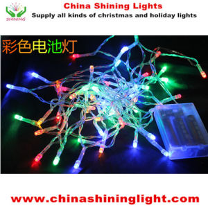 3m Battery Operated Clear Wire Transparent Wire LED Christmas Lights pictures & photos