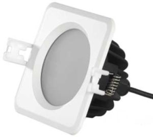 13W LED Low Profile Square Downlight with a Round PMMA Diffuser to Offer Even Light Distribution, 950lm (Dimmable)