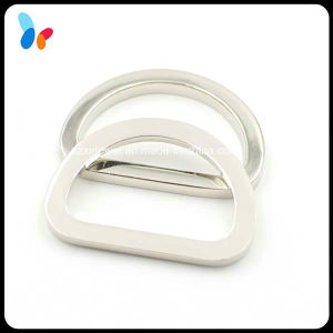 Plating Silver Metal Zinc Alloy D Ring Buckle for Handbag pictures & photos