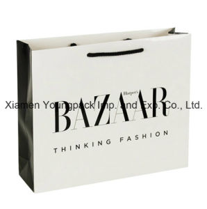 Luxury Gloss Laminate Rope Handle Paper Gift Packaging Bag pictures & photos