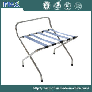 201 Stainless Steel Guestroom Hotel Luggage Rack with Holder pictures & photos