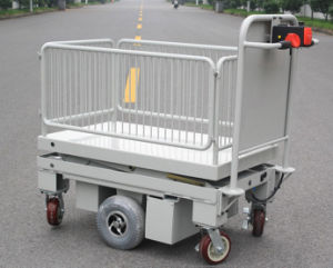 Powered Scissor Lift Trolley with One Cylinder & Wire Fence (HG-1090B)