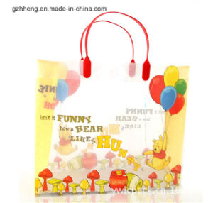 Sell Plastic Shopping Bag with Clip Handle (PVC/PE bag) pictures & photos