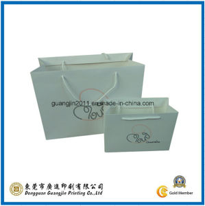 White Color Paper Shopping Bag (GJ-Bag292) pictures & photos
