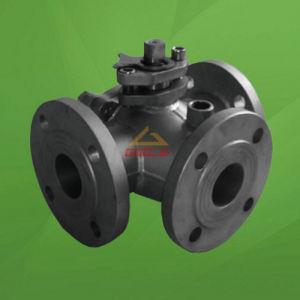 Steam Jacketed L Port Three Way Ball Valve (GABQ44F) pictures & photos