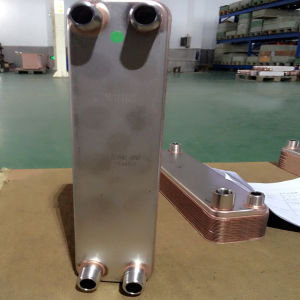Copper Brazed Plate Heat Exchanger Compact Heat Exchanger for Refrigerant Cooler pictures & photos