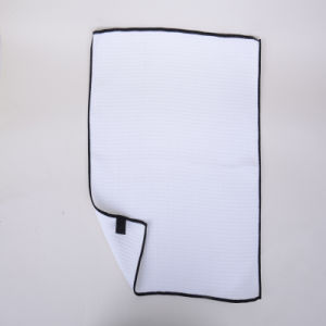 White, Black Borders, Ultra-Fine Fiber Cleaning Cloth