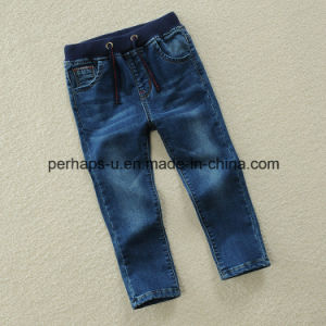 High Quality Children′s Casual Clothes Boy Elastic Jeans pictures & photos